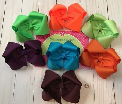 TaylorMade Boutique Solid Hair bows Lot Of 7 Large READY2SHIP Fall Clearance