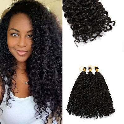 Us Stock 100 Natural Water Wave Crochet Braids Long Deep Curly Hair