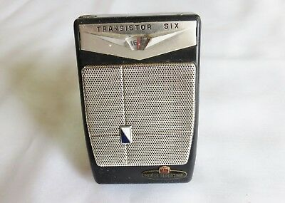 Vintage Morse Supertone Transistor 6 Radio With Original Case & Earphones