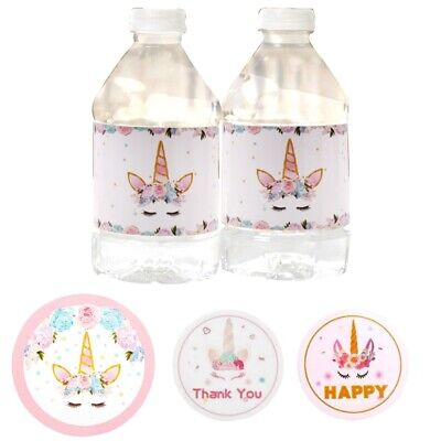 Unicorn Candy Bag Sticker Birthday Party Decoration Gift Box Seal Cartoon Label
