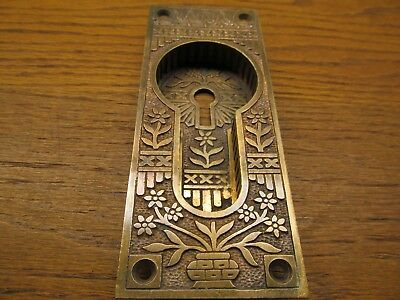 Brass ? Bronze ? Pocket Door Escutcheon..door Plate...ornate Detail