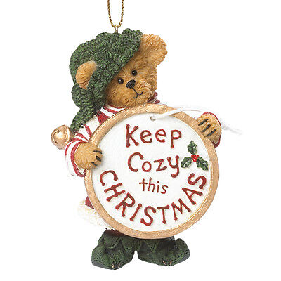 Boyds Ornament*COZY CHRISTMAS ELF with GIFT TAG-BUDDY ELFKIN*NEW 2014*4041881