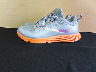 6fe624f26c New NIKE VAPOR SPEED TURF LAX LACROSSE FOOTBALL Mens 8 SHOES GREY 856542-080