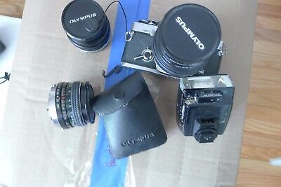 Olympus om-2 camer and lenses