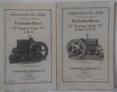 """2 Manuals For Fairbanks Morse """"z"""" Engines & 1 Light Plant Manual"""