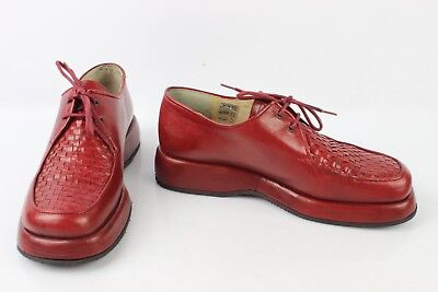 Derby to Plateau Lusolindo Red Leather T 36 Good Condition