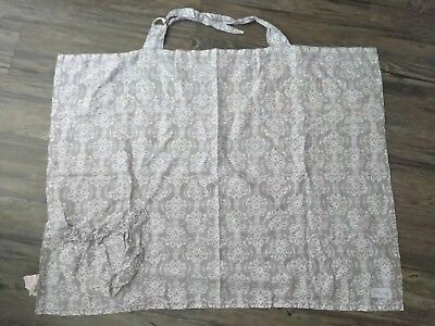 Baby Nursing breastfeeding Cover Gray and White Pattern LITTLE ME Brand One Size