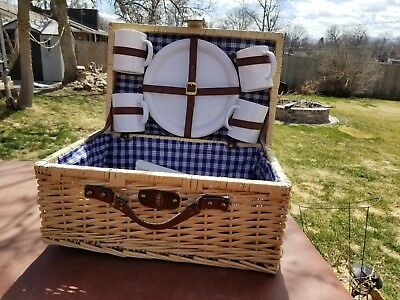 Wicker Picnic Basket and Ware Kit