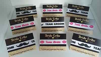 12=£7.99 etc WRISTBANDS HEN PARTY BRIDE TRIBE HAIR TIES KEEP CALM 10=£6.99