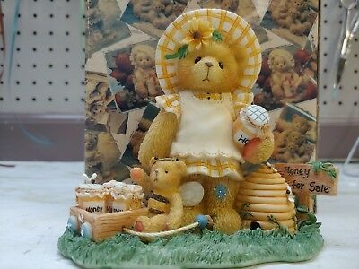 """Lydia~Limited Edition Cherished Teddies Fig 1999, MIB - """"You're the Bees Knees!"""