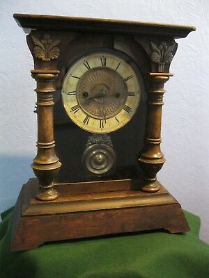 Vintage/antique Wurttemburg Clock For Parts Or Repair Only