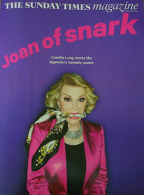 *new* Sunday Times Mag 7 Sep 14 Joan Rivers Natalie Dormer Game Of Thrones