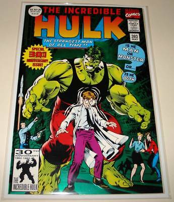 The Incredible HULK # 393 Marvel Comic (May 1992) VFN/NM  30th Anniv. FOIL COVER