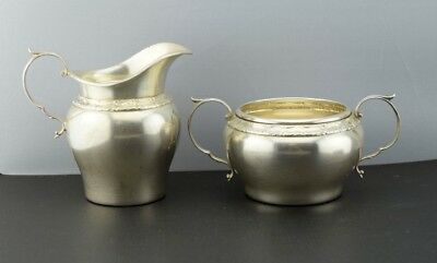 Gorham Sterling Silver Cream 1163 and Sugar 1162 Set Pattern GS1174