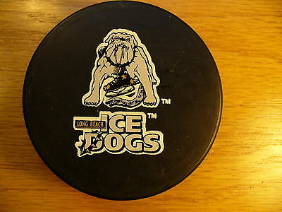 IHL Long Beach Ice Dogs Official Die Cut Logo Hockey Puck Check My Other Pucks