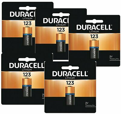 5 x Duracell DL123A Lithium CR123A Batteries