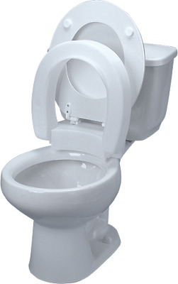 Tall-ette elevated hinged toilet seat, elongated part no. 725711005 (1/ea)