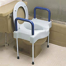 Extra wide tall-ette elevated toilet seat with aluminum legs part no. f725881000