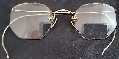 Vintage Imperial Gold Filled Wire Eye Glasses