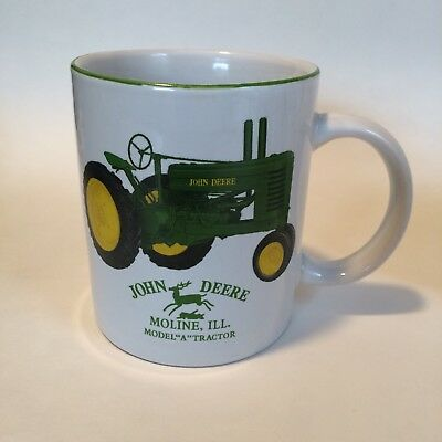 LOT 4 BUNDLE JOHN DEERE MOLINE ILLINOIS MODEL A TRACTOR COFFEE MUGS And HAT