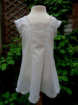 "Antique Baby Dress / Petticoat Late Victorian 24""ch Lace Child Clothes Vintage"