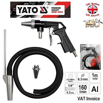 Yato Professional SAND BLASTING AIR GUN Blaster 1m Hose OLD RUST PAINT REMOVER