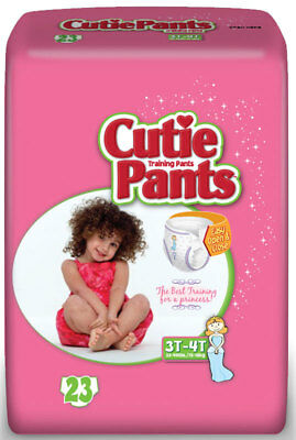 Cuties Refastenable Training Pants for Girls 4T-5T, up to 38+ Part No. CR9008 Qt