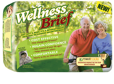 """Wellness brief super absorbent large 36"""" - 46"""" part no. 3142 (20/package)"""