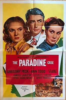 The Paradine Case 1980 Rerelease One-Sheet Poster Alfred Hitchcock Gregory Peck