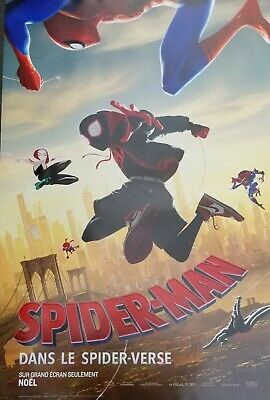 Spider-man Into the Spider Verse in 3D Adv A Dbl Sided Orig Movie Poster 27x40