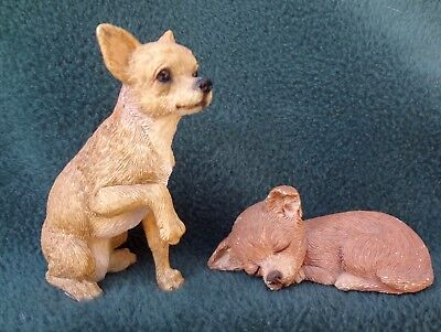 CHIHUAHUA LOT OF 2 FIGURES 1 Sandicast Lil Snoozer 1 Nice Sitting