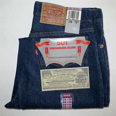 Vintage Original Deadstock Levis 501 701 Jeans 1987 W29 L30 Made In Usa Nos