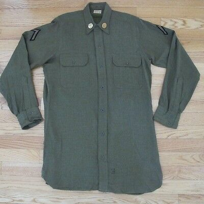 Vintage Original Ww2 Us Army Wool Service Shirt Infantry