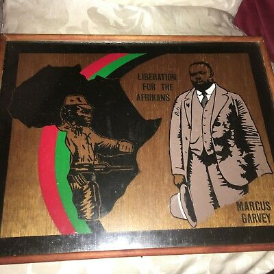 """Black Civil Rights A Rare Plaque Marcus Garvey """"Liberation For The Afrikaner"""