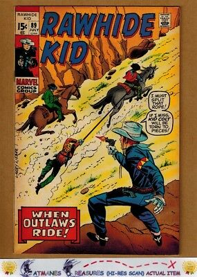 Rawhide Kid #89 (8.5) VF+ By Larry Lieber 1971 Bronze Age Key Issue