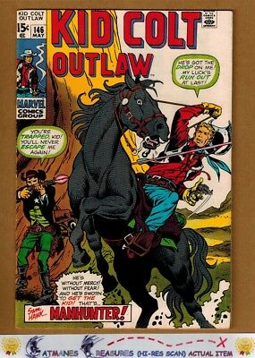Kid Colt Outlaw #146 (8.0) VF By Stan Lee 1970 Bronze Age Key Issue