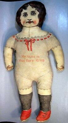 "25 inch ""MISS KORN KRISP"" Anitique Cloth Doll"