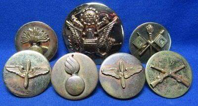 Pre-WWII Army Air Corps, Infantry, Ordnance, Signal Enlisted Discs Lot Of 7