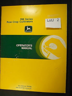 LotJ 02: John Deere Operator's Manual RM SEries Row-Crop Culivators