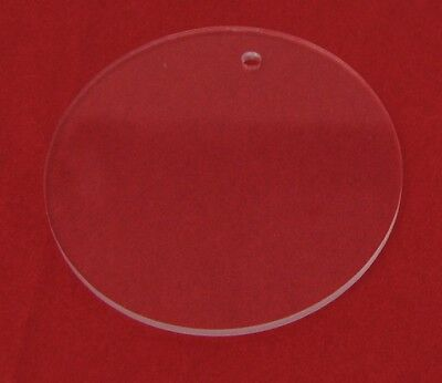 """1.5"""" Diameter Clear Laser Cut Acrylic Circles with hole for keychain 1/8"""" thick"""