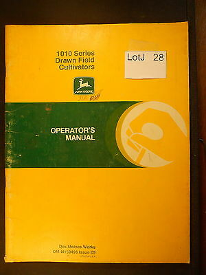 LotJ 28: John Deere Operator's Manual 1010 Series Drawn Field Cultivators