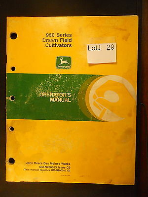 LotJ 29: John Deere Operator's Manual 960 Series Drawn Field Cultivators