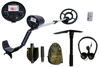 Visua Lightweight Discriminating Metal Detector with Large Waterproof Concentric