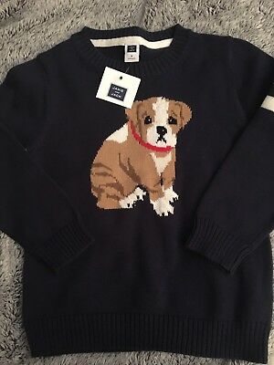 Nwt!!! Janie And Jack Boys Size 3 Sweater Top Dog Cute!!!!