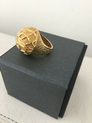 14Ct Gold Capola Ring - Made In Italy - Never Worn - With Receipt
