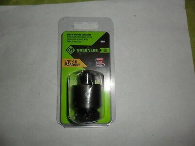 """Greenlee 870  3/8"""" - 16 Hollow Wall Set Screw Anchor Expander Lead  FREE SHIPPIN"""