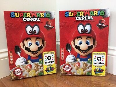 Two (2) Super Mario Cereal, Amiibo, Kellogg's, Brand New, Lot Of 2