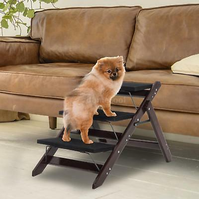 Dog Pet Stairs Cat Steps Indoor Ramp Portable Folding Animal Ladder Couch Bed