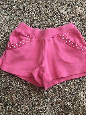 Toddler Girl Gymboree 3T Shorts. Dark pink with polka dot ribbon trim.