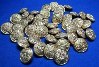 WWII British Made Army Buttons Lot Of 43 by Luxenberg